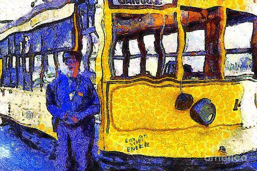 Wingsdomain Art and Photography - Van Gogh Visits The Cablecar Motorman of San Jose California . 7D12868
