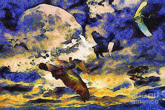 Wingsdomain Art and Photography - Van Gogh.s Flying Pig