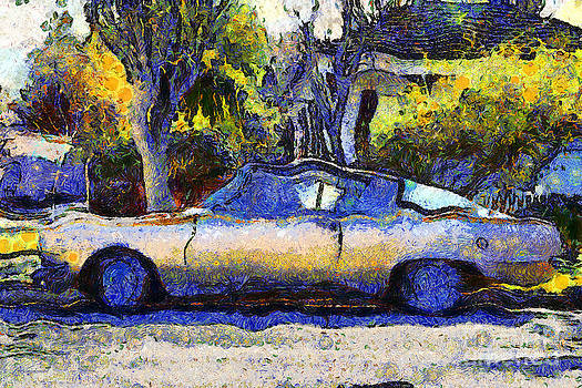 Wingsdomain Art and Photography - Van Gogh.s Plymouth Barracuda in Suburbia . 7D12724