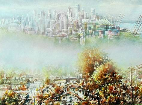 Vancouver clasic-modern in fog by Dumitru Barliga