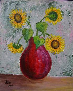 Vase of Sunflowers by Patsi Stafford