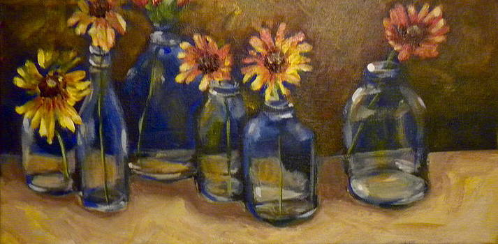 Vases in a Row by Paula Strother