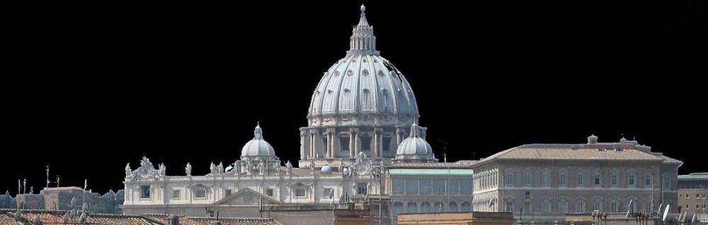 Vatican Dome At Night by Len Yurovsky