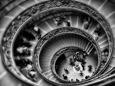 Vatican Museum Stairs by Slavi Begov