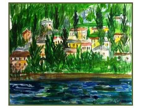Veduta Como Lago by Angela Puglisi