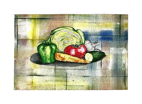 Vegetable Cornucopia by Jim  Romeo