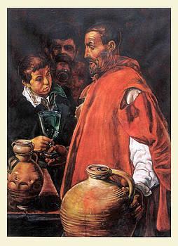 Velazquez aquarell reproduction by Aniko Toth