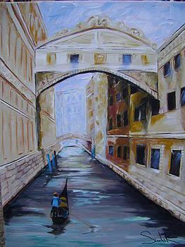 Venice Bridge  by Barbara Sudik