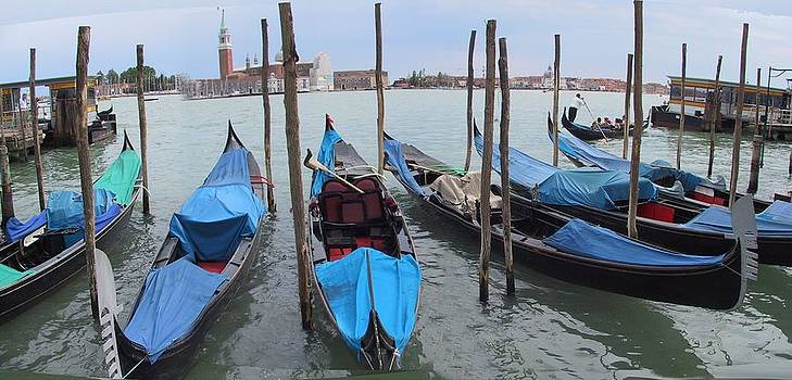 Venice Gondolas by Len Yurovsky