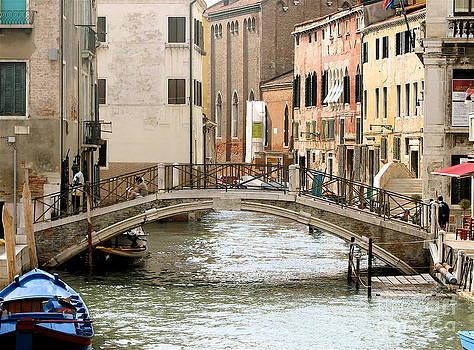 ITALIAN ART - Venice Venezia Venetian bridge