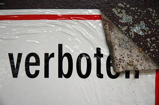Verboten - German sign by Matthias Hauser