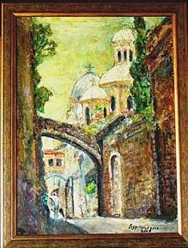 Via Dolorosa Jerusalem by Baruch Neria-Kandel