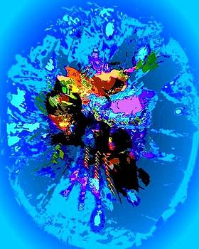 Vibraciones del alma  light blue by Sara  Diciero