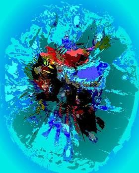 Vibraciones del alma  turquoise by Sara  Diciero
