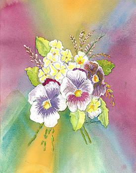 Vibrant Panseys by Joy Braverman