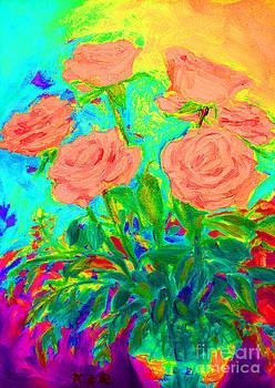 Vibrant Roses by Karen Francis