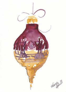 Victorian Watercolor Ornament by Michele Hollister - for Nancy Asbell