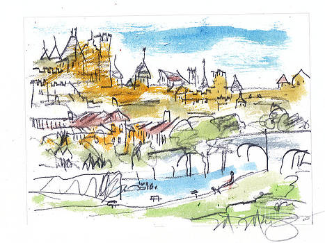 View of Carcassone France by Marilyn MacGregor