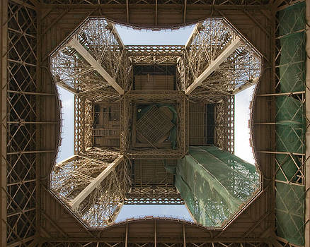 View of Eiffel Tower from Underneath by Kent Sorensen