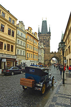View of Mala Strana Tower from Lesser Town by Paul Pobiak