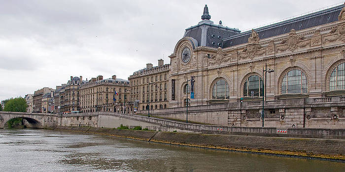 View of Musee d'Orsay from Seine River by Kent Sorensen