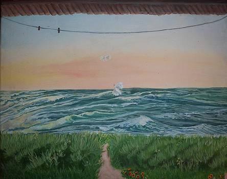 View of Myrtle Beach by Brooke F Boyce