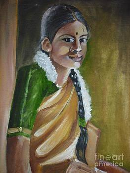 Village Girl by Kanthasamy Nimalathasan