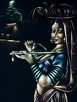 Village Lady by Prashant Upadhyay