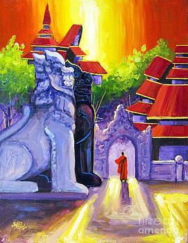 Village Monastery by Aung Min Min