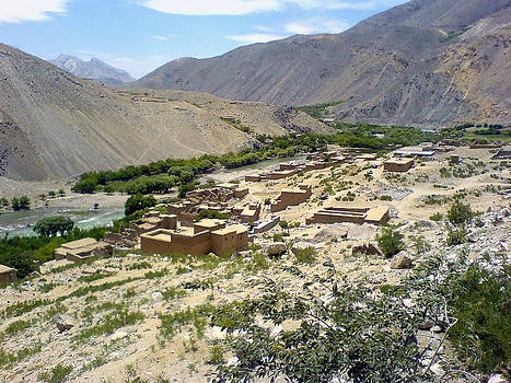 Village of Bazarak in the Valley of Panjshir by Yvan Goudard