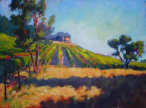 Vineyards at Sarver by Margaret  Plumb