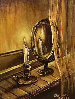 Vintage Candle Still life  by Khatuna Buzzell