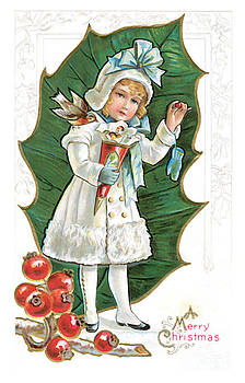 Unknown - Vintage Merry Christmas Card