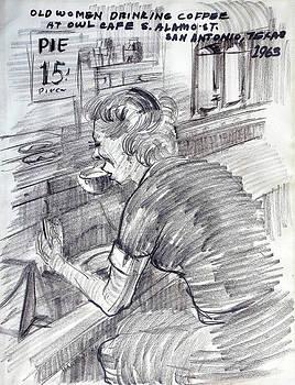 Vintage Owl Cafe by Aileen Markowski