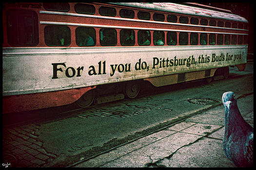 Vintage Pittsburgh Trolly by Chris Lord