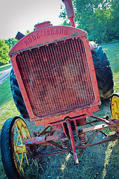 Vintage Rock Island Tractor by Tiffany Zumbrun