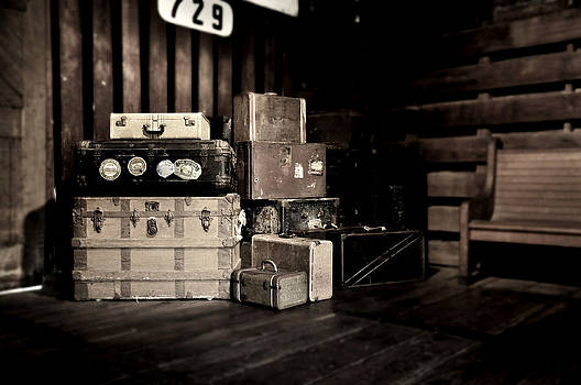 Rebecca Brittain - Vintage Steamer Trunks at Railroad Station
