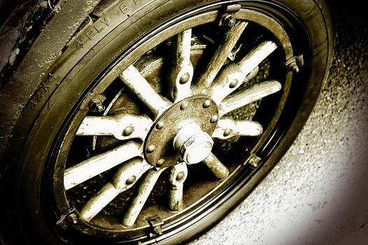 Vintage Wheel by Cathie Tyler
