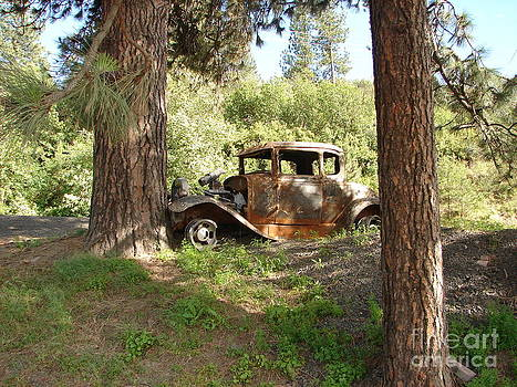 Windy Mountain - Vintage Wreck of a Model A Ford Roadster