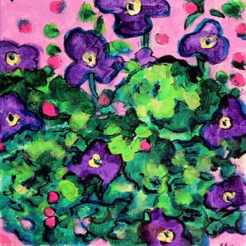 Violets Sketch by Laura Heggestad