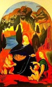 Virgin of the Rocks by Ronald Lee