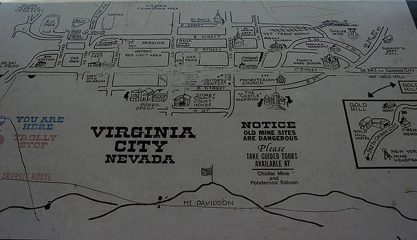 LeeAnn McLaneGoetz McLaneGoetzStudioLLCcom - Virginia City Nevada Map