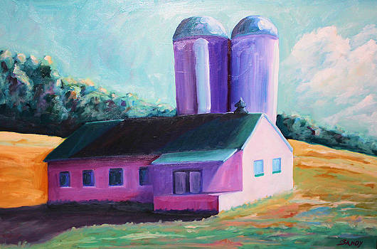 Virginia Dairy Barn In Late Evening by Todd Bandy