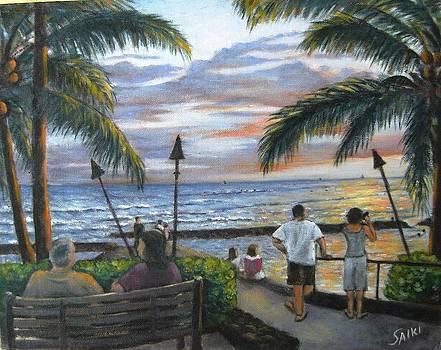 Waikiki Sunset by Lorna Saiki