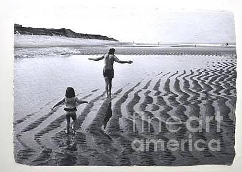 Walk on the beach by Gail Fischer