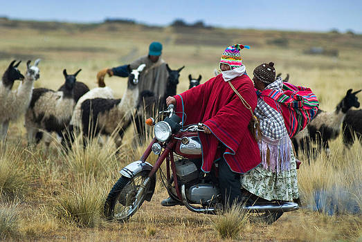 Walk through the highlands. Republic of Bolivia.  by Eric Bauer