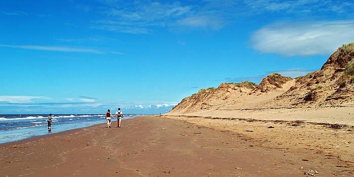 Walking Mad Wharfe Beach by Steve Watson