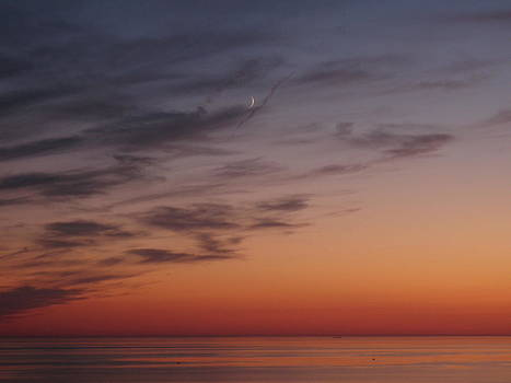 Waning Crescent Sunset by Emily Nothnagel