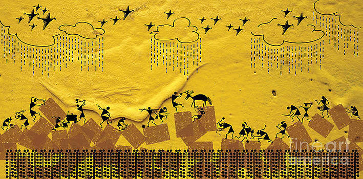 Warli hunting by Subhash Limaye