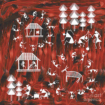 Warli Life by Subhash Limaye